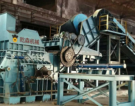 This scrap metal crusher machine is used for cold press metal scraps