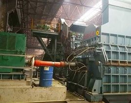 How does the scrap crushing machine work?